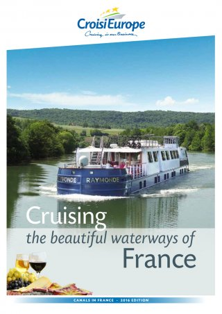 Barge Cruising the Beautiful Waterways of France (brochure cover)