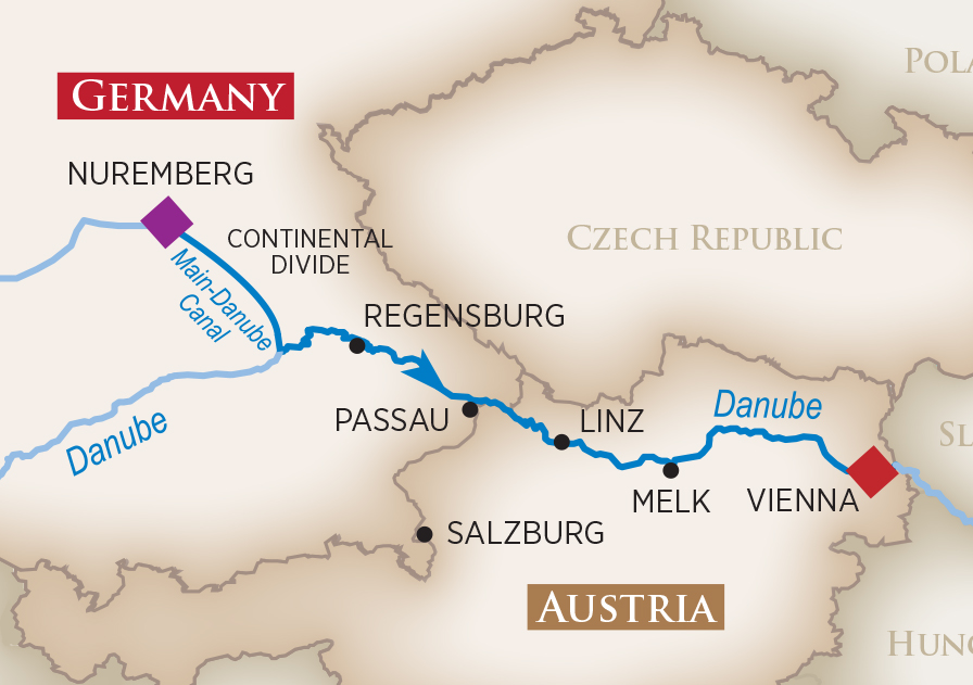 Itinerary map of Magical Christmas Markets (Nuremberg to Vienna)>